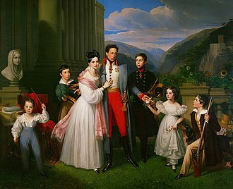 Archduke Charles, Duke of Teschen - Archduke Charles with family.
