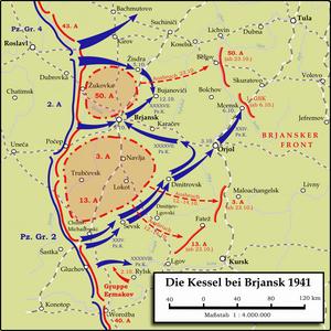Battle of Bryansk (1941) - Encirclement of Soviet armies near Bryansk