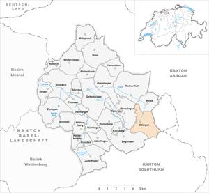 Oltingen - Image: Karte Gemeinde Oltingen 2007