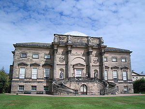 Kedleston Hall - Kedleston Hall. The South front by Robert Adam, based on the Arch of Constantine in Rome