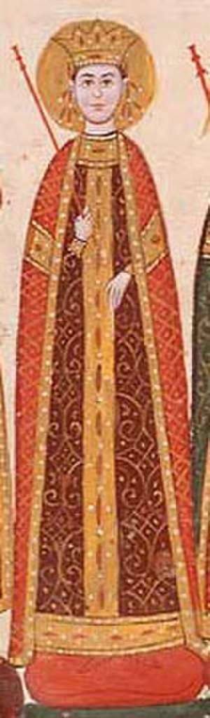 Kera Tamara - Manuscript miniature of Kera Tamara (Tetraevangelia of Ivan Alexander).