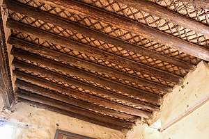 Khalifa House Museum - Beams and matting of the ceiling