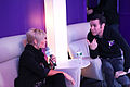 Kimberly Caldwell, Pete Wentz at Yahoo Yodel 5.jpg