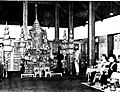 King Bhumibol Adulyadej and Queen Sirikit merit making ceremony of the Funeral of Sarit Thanarat.jpg