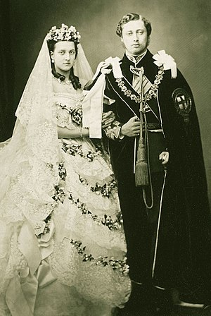 Harriet Mordaunt - The Prince and Princess of Wales on their wedding day, 1863