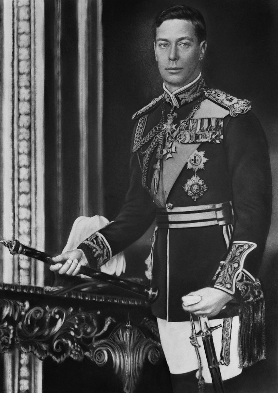 King George VI of England, formal photo portrait, circa 1940-1946 - edit