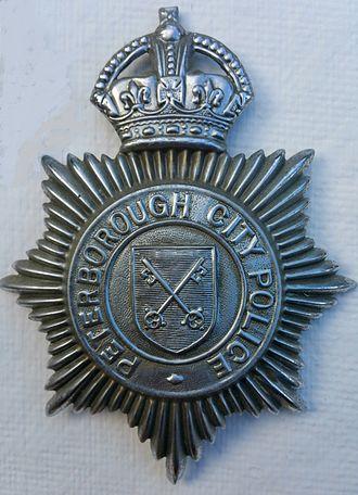 Peterborough City Police - Kings Crown Peterborough City Police Badge 1943-1947.