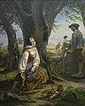 Kirsten svendsdatter finder guldhornet (1859) by niels simonsen.jpg