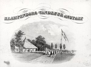 Cottageparken - Advertisement for Klampenborg Spa from the 1860s