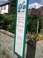 Knaphill The Royal Oak bus stop notice.JPG