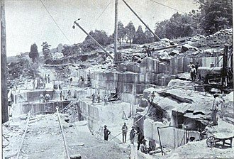 Tennessee marble - Marble quarry near Knoxville, circa 1911