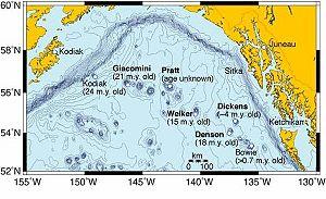 Kodiak–Bowie Seamount chain - Image: Kodiak Bowie Seamounts