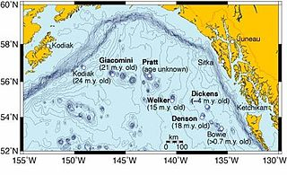Kodiak–Bowie Seamount chain A seamount chain in southeastern Gulf of Alaska stretching from the Aleutian Trench in the north to Bowie Seamount