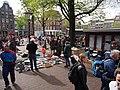 Koningsdag in Amsterdam, Haarlemmerplein foto 1.JPG