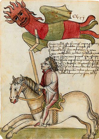 Konrad Kyeser - Rider with kite (Clm 30150 manuscript)