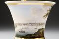Kopp med fat. Motiv Stockholmsvy. Detalj motivet - Hallwylska museet - 87145.tif