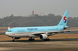 Korean Air A330-223 (HL7552) taxiing at Nagasaki Airport.jpg