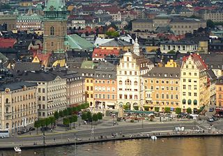 Gamla stan urban district in Stockholm, Sweden