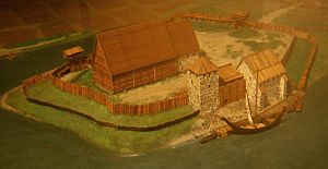 Bero (bishop of Finland) - Koroinen in the 13th century. Scale model in the Castle of Turku Museum.