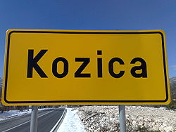 A sign at the entrance to Kozica