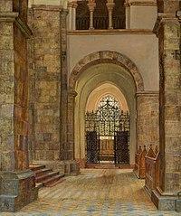 Fra Ribe domkirke. Et af kapellerne