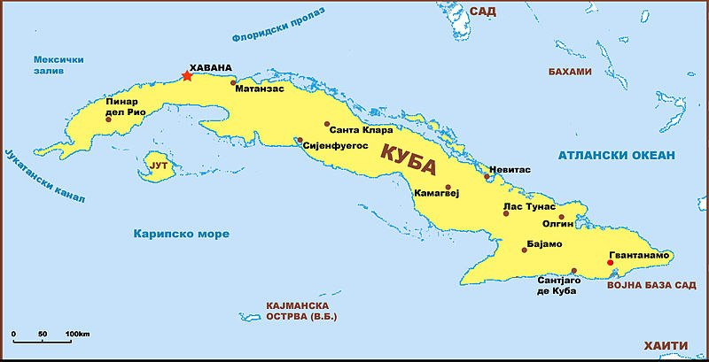 Kuba mapa