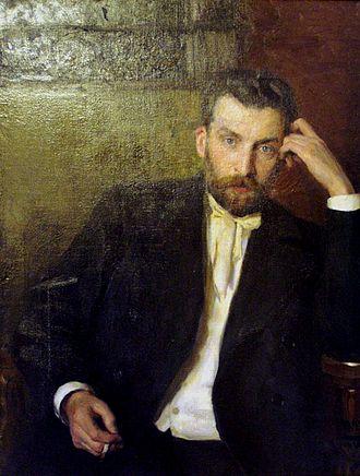 Albert Nikolayevitch Benois - Portrait by Nikolai Kuznetsov (1897)
