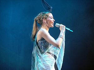 Put Yourself in My Place (Kylie Minogue song) - Minogue performing the song during Showgirl: The Greatest Hits Tour (2005).