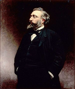 Léon Gambetta - Portrait of Gambetta by Léon Bonnat (1875)