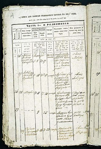 Document - A birth certificate from 1859
