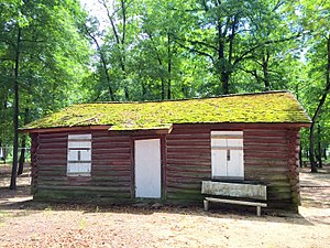 National Register of Historic Places listings in Caroline County, Maryland - Image: LR Walls Chambers Park Log Cabin Ext 1