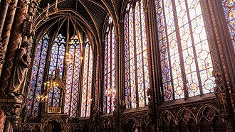 Sainte-Chapelle - Stained glass windows of the Sainte Chapelle.