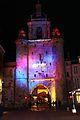 La Tour de la Grosse Horloge illuminée, Noël 2009 (7).JPG