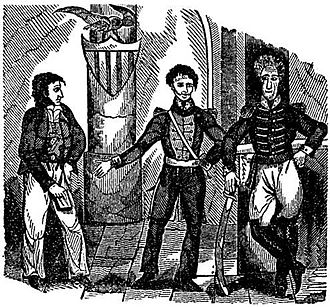 Jean Lafitte - 1837 woodcut of Lafitte; W.C.C.Claiborne; Andrew Jackson during the War of 1812