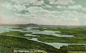Moultonborough, New Hampshire - Lake Winnipesaukee in 1905 from Red Hill