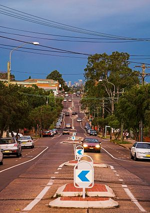 Lakemba, New South Wales - Lakemba Street, view north-east towards the Sydney CBD