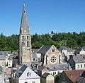 Langeais-Église paroissiale Saint-Jean-Baptiste de Langeais-Depuis le château.jpg