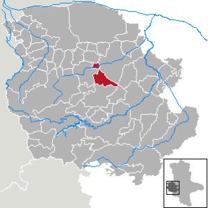 Langenstein, Saxony-Anhalt - Image: Langenstein (Harzvorland) in HZ