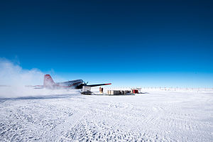 Concordia Station - The last take-off in February 2015
