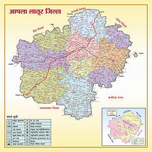 Latur district - Latur District political map