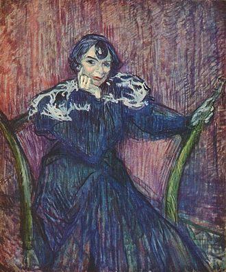 Berthe Bady - 1897 portrait by Toulouse Lautrec