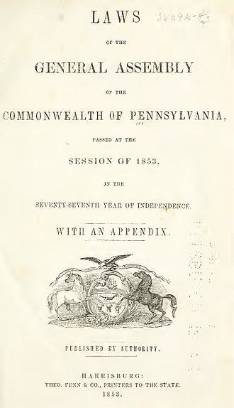 Laws of Pennsylvania - Session of 1853