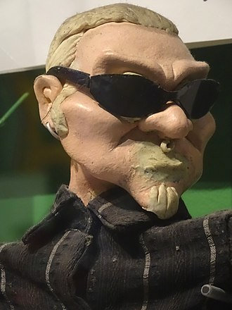 Layne Staley - Image: Layne Staley Claymation Figure Rock & Roll Hall of Fame and Museum, Cleveland (by Adam Jones)