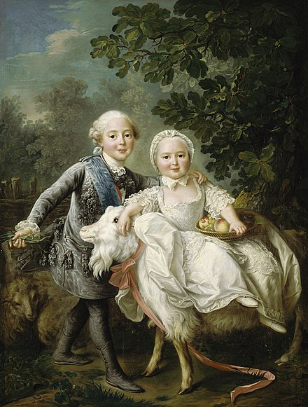 Charles Philippe with his younger sister Clotilde on a goat Charles-x-and-his-sister-clotilde-mounting-a-goat.jpg