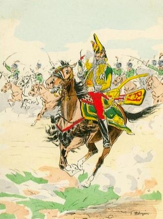 Battle of Miajadas - General Count de Lasalle, one of the most talented French cavalry commanders, led the pursuit of the Spanish army ahead of his cavalry division.