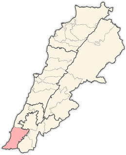 Tyre District District in South Governorate, Lebanon