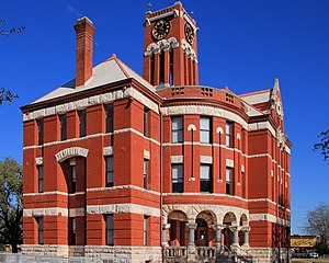 Giddings, Texas - The Lee County Courthouse in Giddings (built  1899)