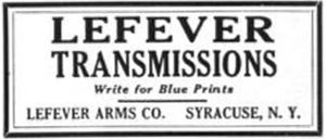 Lefever Arms Company - LeFever Arms Co. transmissions - 1916