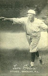 Leon Cadore American baseball player