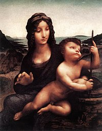 Leonardo da Vinci, Madonna of the Yarnwinder, Buccleuch version.jpg